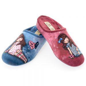 zapatillas cute girl azul rosa